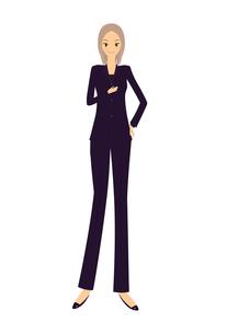 パンツスーツの女性の素材 [FYI00189909]