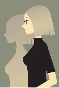 女性 横顔の素材 [FYI00189917]