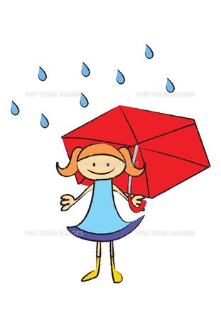 雨と女の子の写真素材 [FYI00189918]