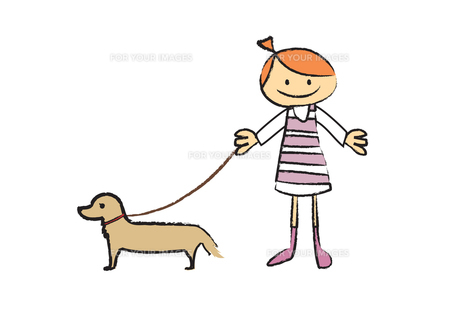 犬の散歩の素材 [FYI00189925]