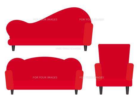 赤いソファーの写真素材 [FYI00189928]
