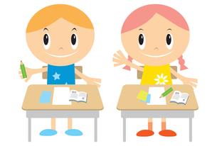 授業中の子供の素材 [FYI00189947]