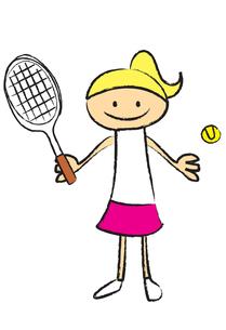 テニスをする女性の写真素材 [FYI00189953]