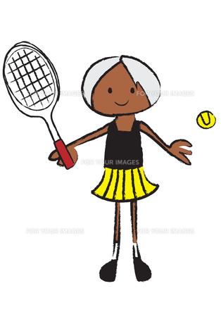 テニスをする女の子の素材 [FYI00189956]