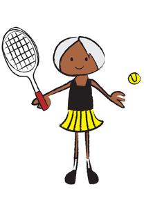 テニスをする女の子の写真素材 [FYI00189956]
