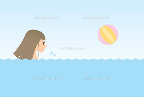 泳ぐ女性の素材 [FYI00189957]
