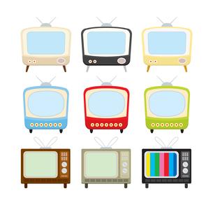 レトロなテレビの素材 [FYI00189966]