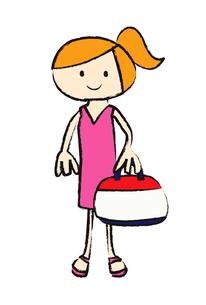 バッグを持つ女の子の素材 [FYI00189973]