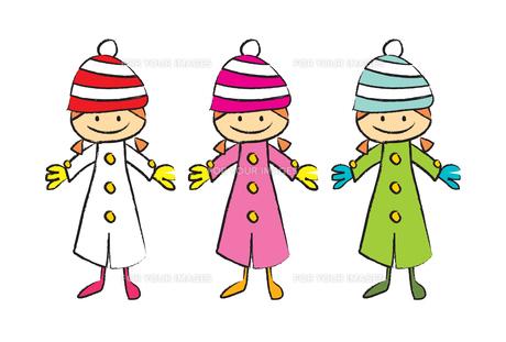 冬服の女の子の素材 [FYI00189986]