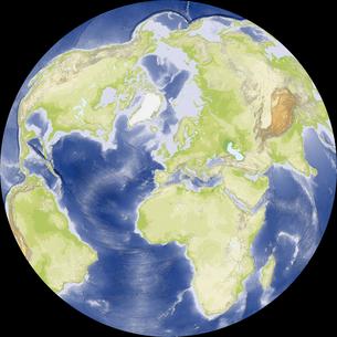 Nicolosi Globular図法の写真素材 [FYI00190166]