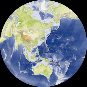 Nicolosi Globular図法の写真素材 [FYI00190170]