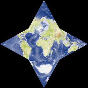 星型世界地図の写真素材 [FYI00190171]
