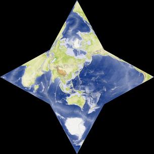 星型世界地図の写真素材 [FYI00190175]