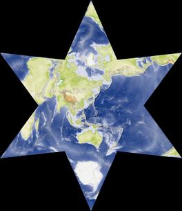 星型世界地図の写真素材 [FYI00190178]