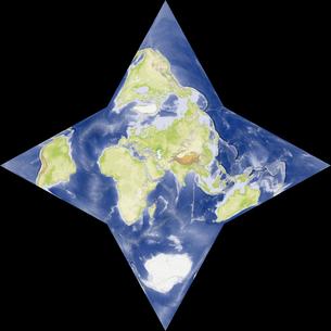 星型世界地図の写真素材 [FYI00190179]
