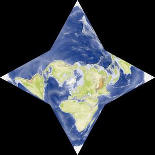 星型世界地図の写真素材 [FYI00190180]