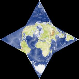 星型世界地図の写真素材 [FYI00190181]