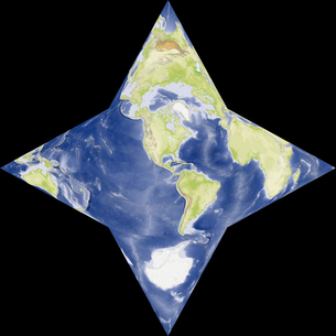星型世界地図の写真素材 [FYI00190183]