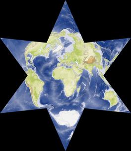 星型世界地図の写真素材 [FYI00190184]
