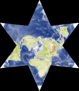 星型世界地図の写真素材 [FYI00190185]