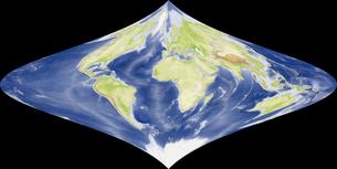 Foucaut Stereographic図法の写真素材 [FYI00190190]