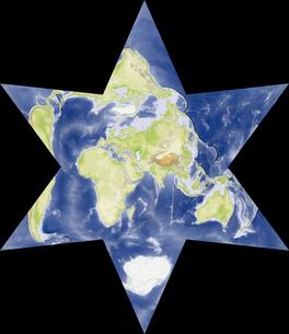 星型世界地図の写真素材 [FYI00190192]
