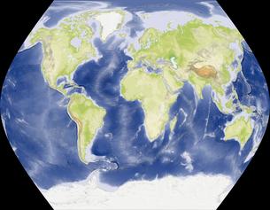 TsNIIGAiK擬円筒図法の写真素材 [FYI00190193]
