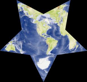 Berghaus Star図法の写真素材 [FYI00190195]