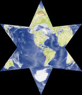 星型世界地図の写真素材 [FYI00190199]
