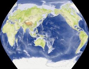 TsNIIGAiK擬円筒図法の写真素材 [FYI00190202]