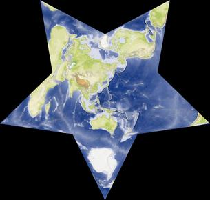 Berghaus Star図法の写真素材 [FYI00190211]