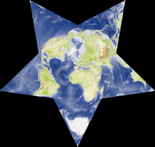 Berghaus Star図法の写真素材 [FYI00190214]