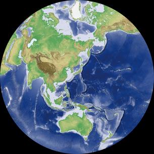 Nicolosi Globular図法の写真素材 [FYI00190398]