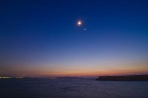 月・金星・木星の写真素材 [FYI00191229]