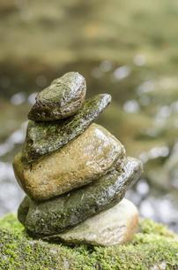 積まれた石の写真素材 [FYI00191820]