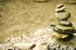 積まれた石の写真素材 [FYI00191836]