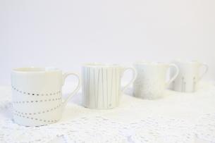 並んだコーヒーカップの写真素材 [FYI00192016]