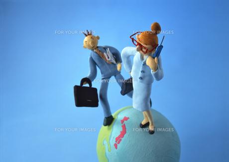 クラフト ビジネスマン 地球儀の素材 [FYI00192841]