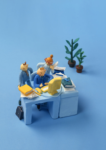 クラフト ビジネス グループワークの素材 [FYI00192856]