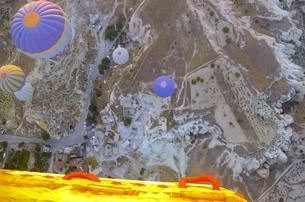 トルコ カッパドキア 気球からの写真素材 [FYI00192886]