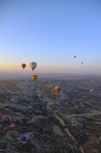トルコ カッパドキア 気球からの写真素材 [FYI00192892]