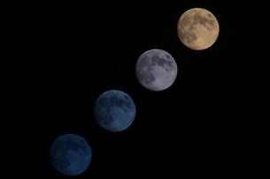 昇る月の写真素材 [FYI00193192]