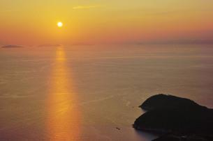 燧灘の夕暮れの写真素材 [FYI00193201]