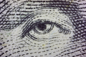 ジョージ・ワシントンの目の写真素材 [FYI00193232]