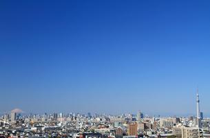 スカイツリーと富士山と東京風景の写真素材 [FYI00193358]