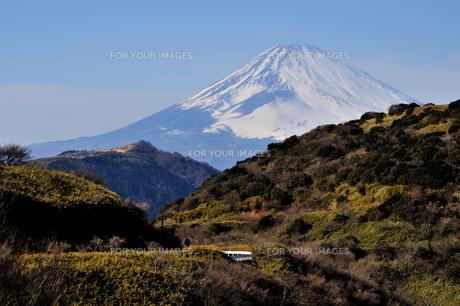合間の富士山の素材 [FYI00193548]