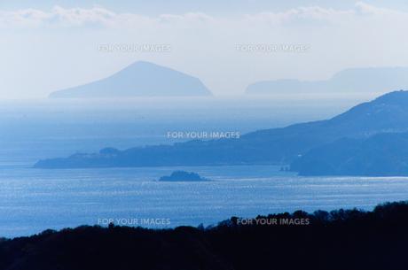 山の上から伊豆七島の素材 [FYI00193595]