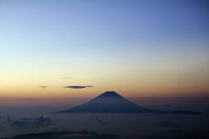 「富士山」 標高3000mよりの写真素材 [FYI00193616]