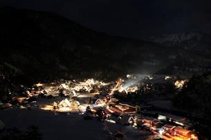 展望台からの合掌集落の眺めⅨの写真素材 [FYI00193695]
