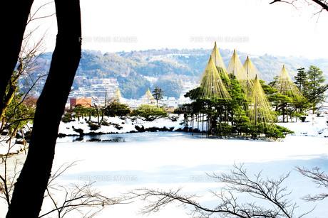 雪化粧の日本庭園Ⅵの写真素材 [FYI00193701]